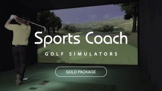sports coach gold golf simulator