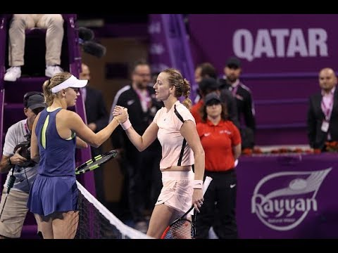 2018 Qatar Total Open Semifinal | Caroline Wozniacki vs. Petra Kvitova | WTA Highlights