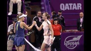 2018 Qatar Total Open Semifinal   Caroline Wozniacki vs. Petra Kvitova   WTA Highlights
