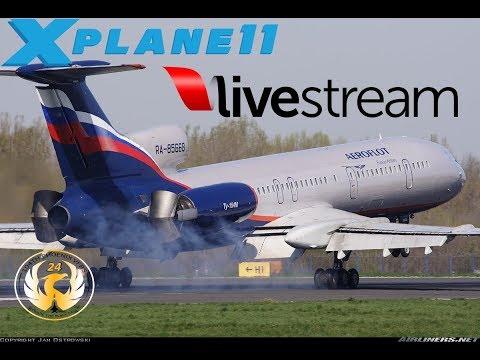 X-Plane 11 | T154 | MINSK, MOSCOW, RIGA, TALLIN