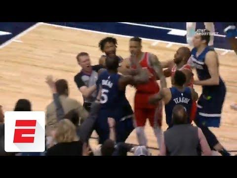 Tempers flare in Minnesota as Timberwolves center Gorgui Dieng shoves Chris Paul to the floor | ESPN