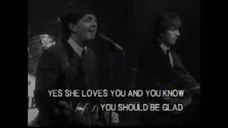 The Beatles - she loves you ( clip subtitles )