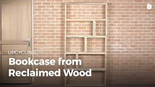 Learn a great DIY design for a bookcase for your home and build it! This video is part of our free program on upcycling wood. Find
