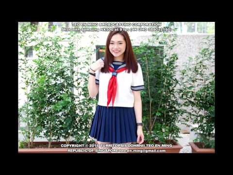 Reiko Jinman Lee Sailor School Uniform Shoot 1 at National Gallery Singapore on 2 Apr 2016 Sat