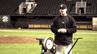 Infield Groundball Drills with Vanderbilt Baseball coach Tim Corbin and ATEC machines