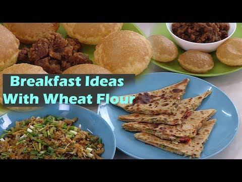 Breakfast Ideas  wheat Flour Recipes  Dosa, Noodles, Halwa, Stuffed Paratha