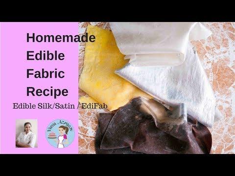 Homemade Edible Fabric Recipe, Edible Silk or EdiFab for Cake Decorating