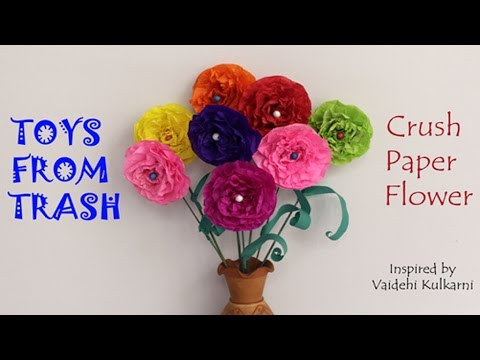 Crush Paper Flowers | Hindi