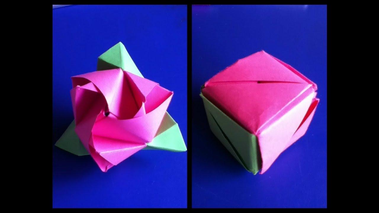 Voorkeur Origami roos-kubus (Anne) - YouTube #MT09