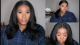 Very Natural Everyday Kinky Straight 360 Wig I Ready To Wear I Black Friday Deals I HayqueenCrowns