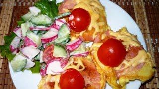 Кабачки с колбасой (вторые блюда в мультиварке).