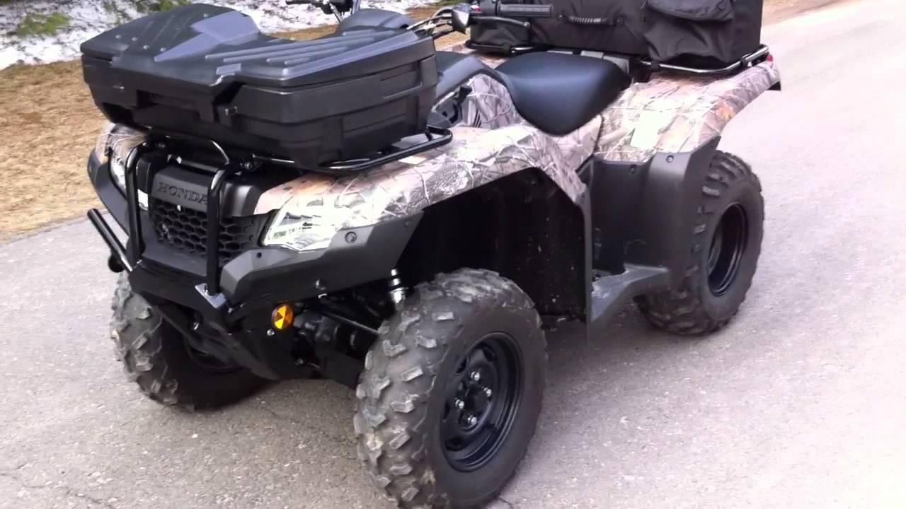 2014 Honda 420 Fourtrax Rancher Start Up Walk Around Camo