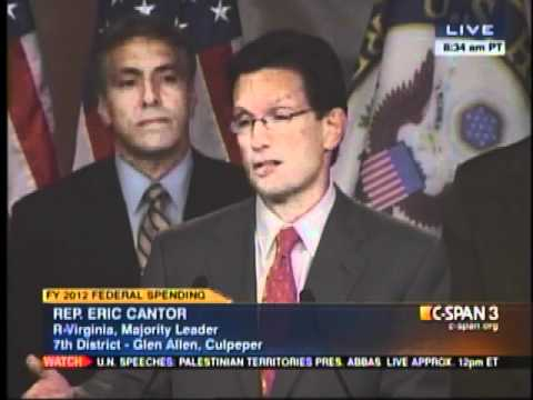 Majority Leader Eric Cantor: Senator Reid is Holding Up Disaster Relief Because of Politics