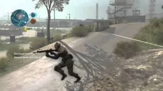 Metal gear solid 5 online gameplay going 15-4 with Sniper class