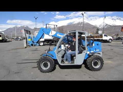 SOLD! Forward Reach Forklift 2008 Genie GTH5519 4x4x4 19' Reach Telescopic