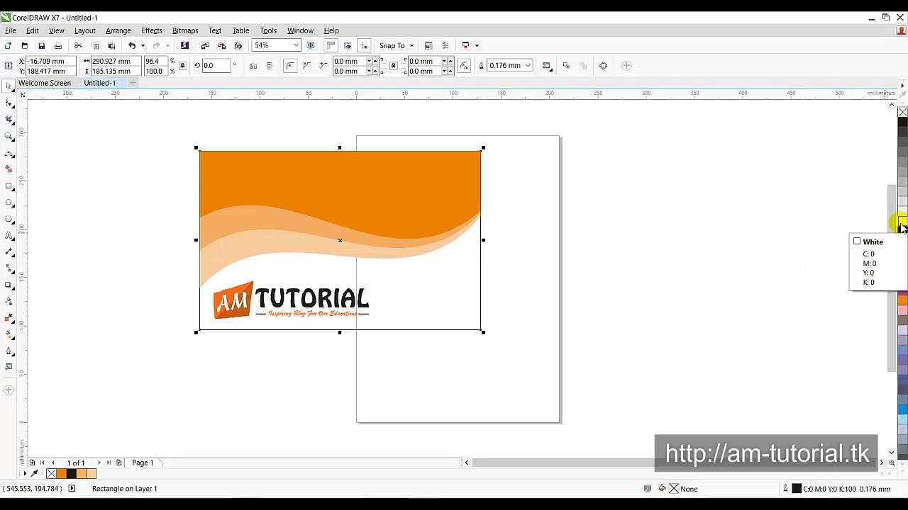 Cara Membuat Desain Kartu Nama Unik di CorelDraw - YouTube