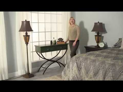 Benzara Metal Wood Table with Accentuated Curved Metal Legs - Product Review Video