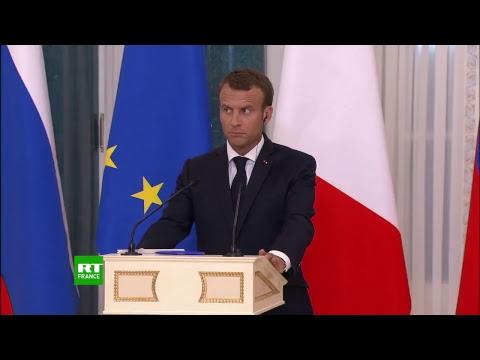 Vladimir Poutine et Emmanuel Macron s'expriment depuis le Forum économique de Saint-Pétersbourg