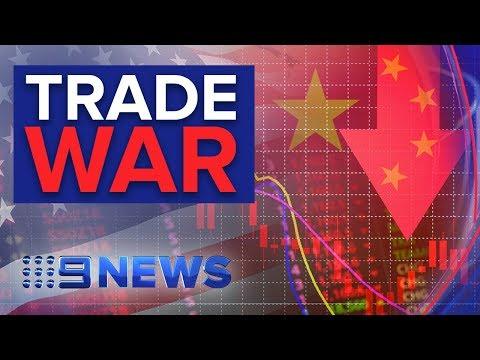 Aussie dollar and share markets slump as U.S. China spat escalates   Nine News Australia