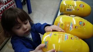 Marketten kocaman 8 tane sürpriz yumurta aldık