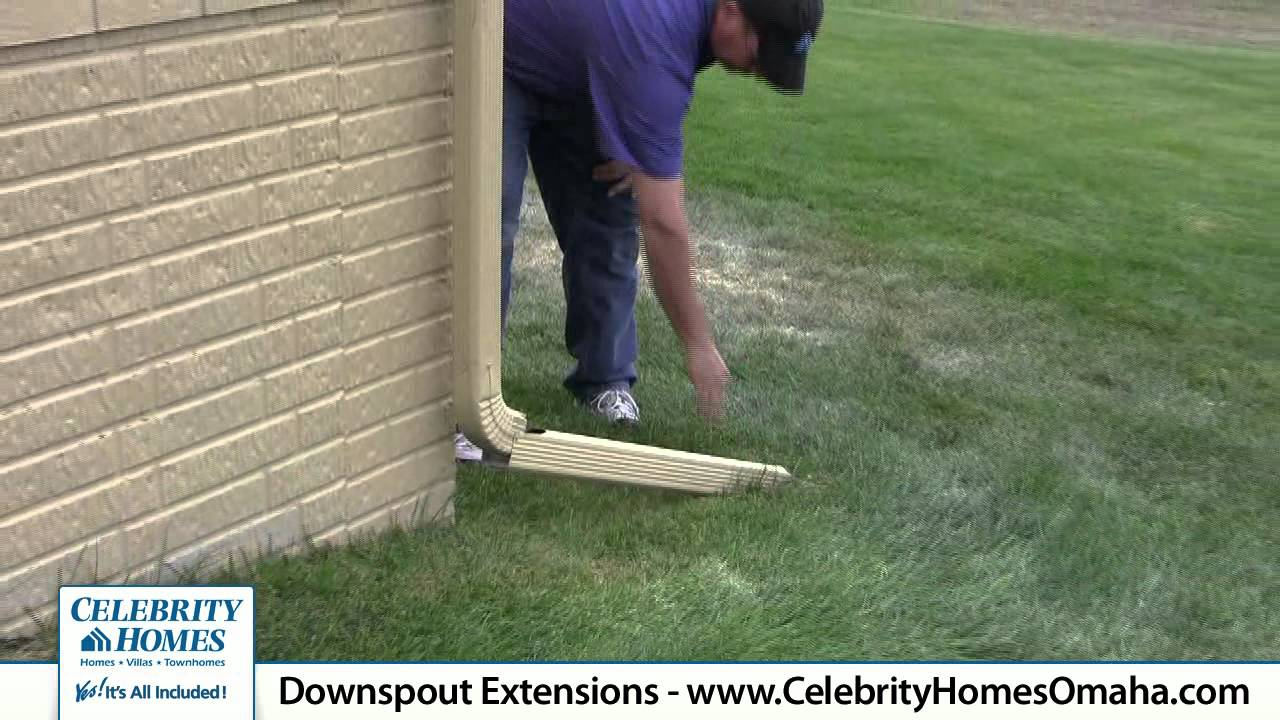 Celebrity Homes Home Tips Downspout Extensions Youtube