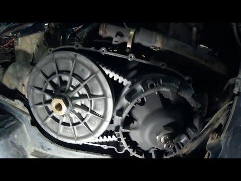 Чистка вариатора СF moto Х6   и переделка сливного отверстия вариатора