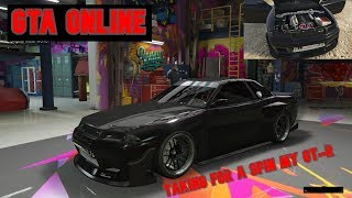 GTA 5 Online -Taking my 750bhp Gt-R for spin.