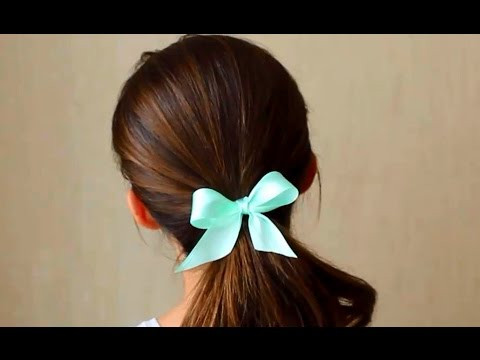 Как сделать красивый бантик за 1 минуту (+ бантик на резинке для волос) Без клея и ниток!