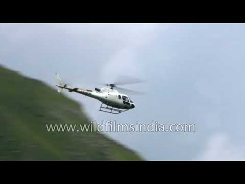 Choppers in the Himalaya  Helicopter services during Manimahesh Yatra in Bharmour