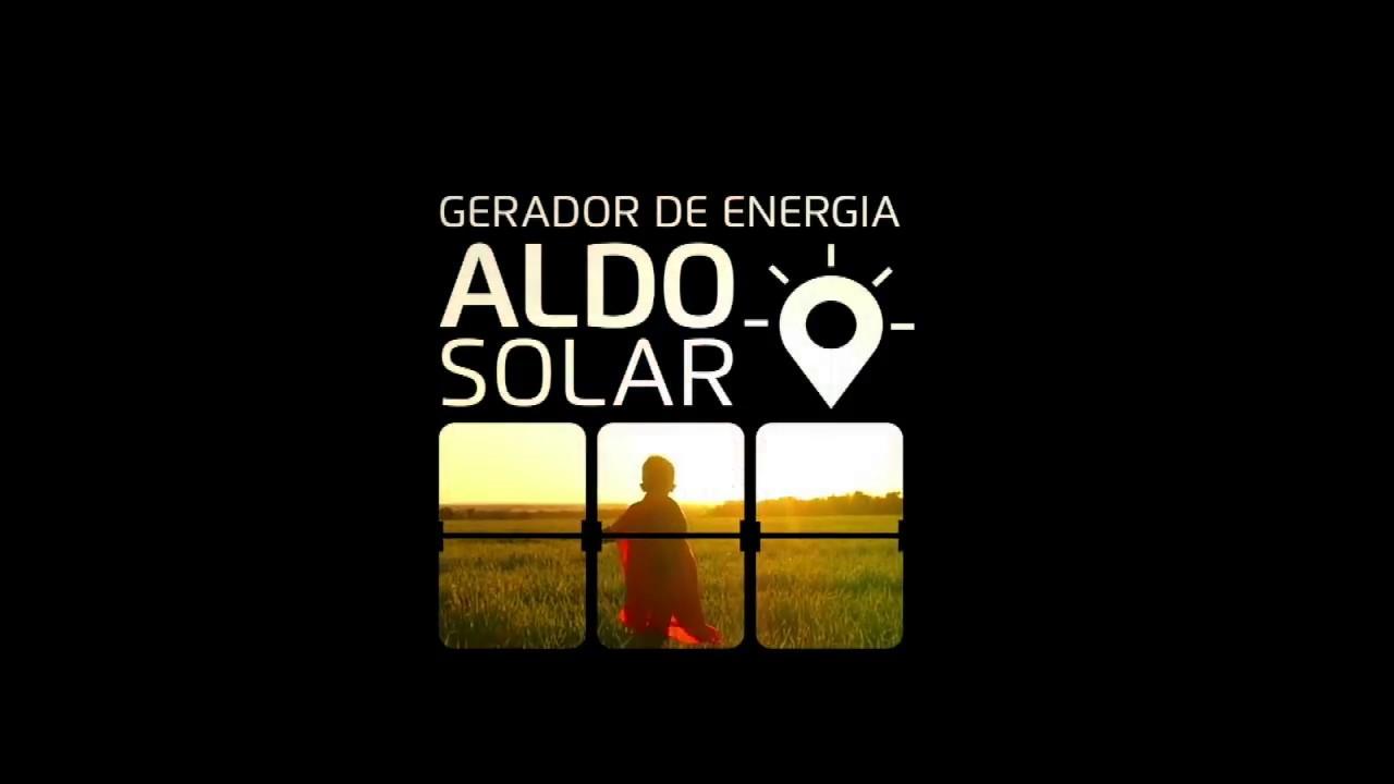 GERADOR DE ENERGIA ALDO SOLAR 365 365 DIAS DE LUZ ELÉTRICA ATRAVÉS DO SOL