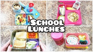 School Lunches - Plus what she ate! - Week 5 - Using Leftovers! - Bella Boo's Lunches week 5