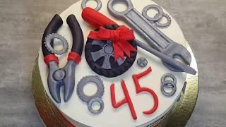 як зробити торт колесо з мастики