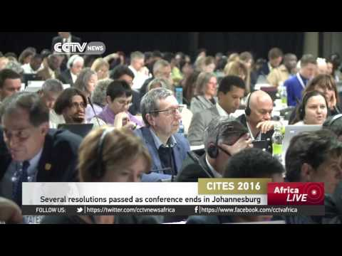 Several resolutions passed as CITES conference ends in Johannesburg