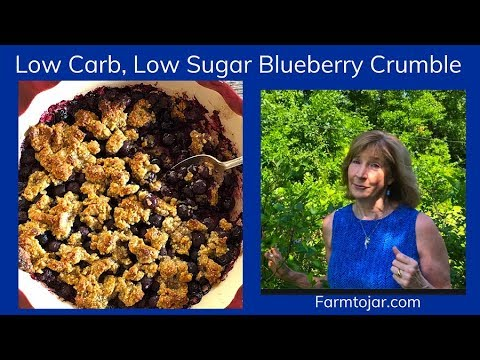 Low Carb Blueberry Crisp or Crumble