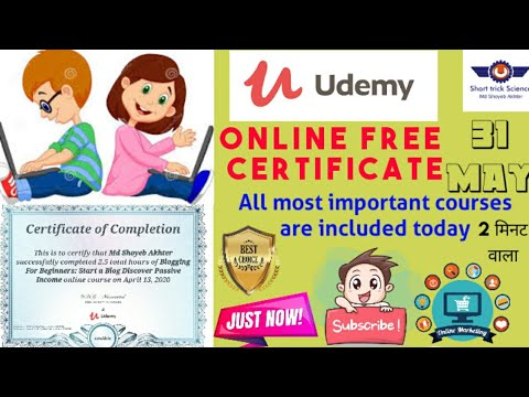 free-instant-certificate-by-udemy-2020-|-|#short_trick_science