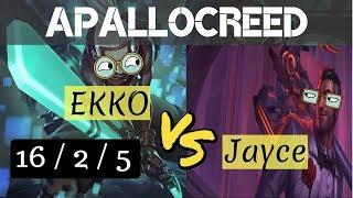 Apallocreed | Ekko vs Jayce mid Ranked Patch 8.11