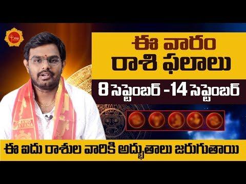 This Week Rasi Phalalu Telugu || September 8th To 14th Rasi Phalalu || Weekly Rasi Phalalu