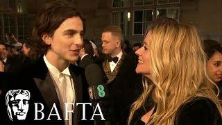 Timothée Chalamet Red Carpet Interview | EE BAFTA Film Awards 2018