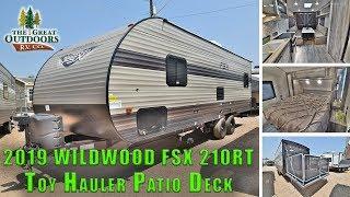 2019 FOREST RIVER WILDWOOD FSX 210RT Toy Hauler Travel Trailer Patio Deck Colorado RV Dealer
