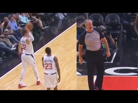 Blake Griffin Tries to Hit Referee with Ball For Not Calling Fouls and Gets a Technical Foul!