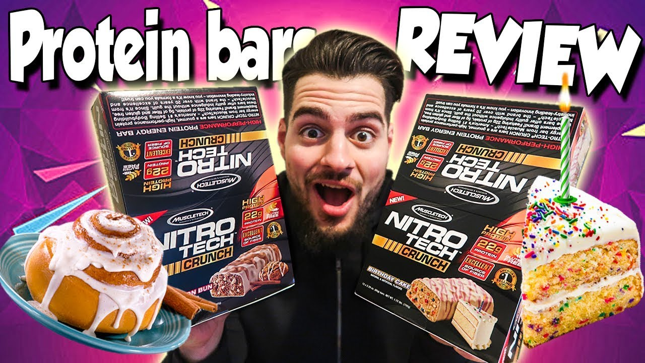 Muscle Tech BIRTHDAY CAKE CINNAMON BUN PROTEIN BARS Review
