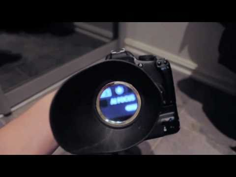DIY Viewfinder mounting using LCD Shade - DSLR