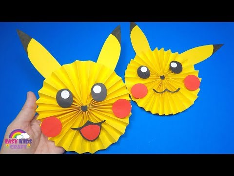 How to Make a Paper Pikachu |  Pokemon Paper Craft