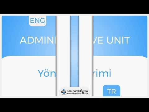 Administrative unit Nedir? Administrative unit İngilizce Türkçe Anlamı Ne Demek?