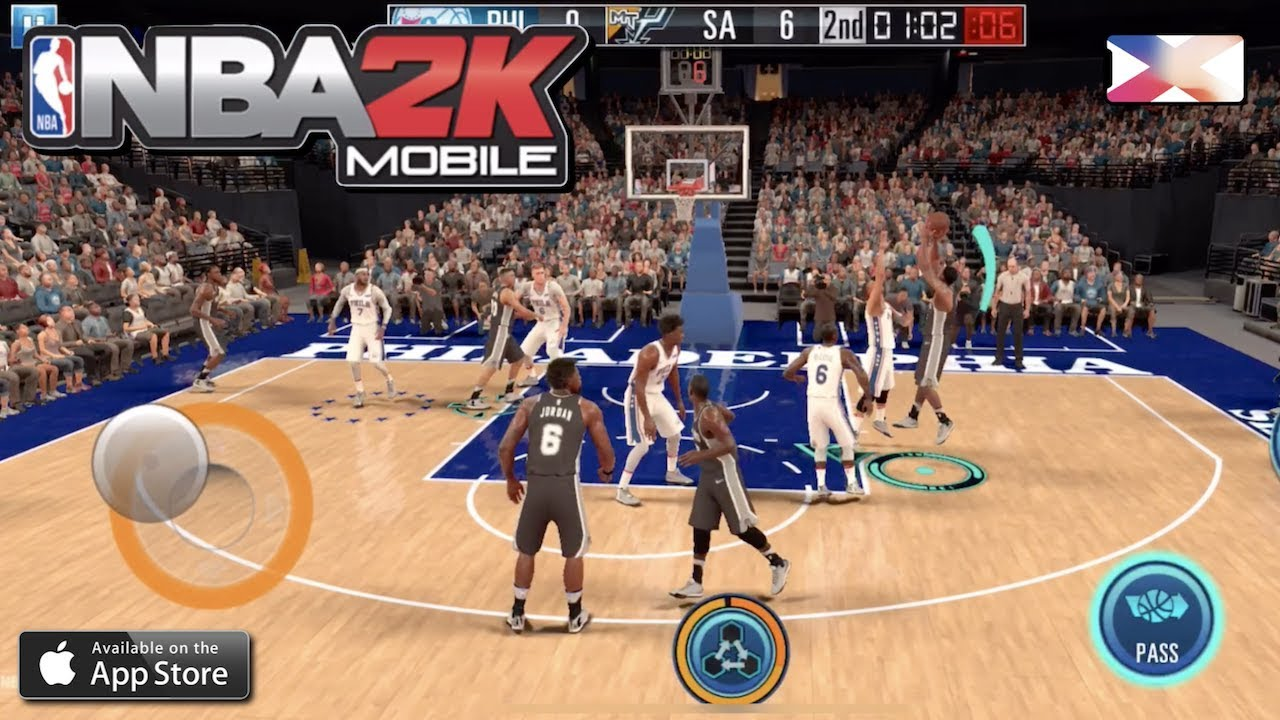 163e4ccce38 NBA 2K MOBILE BASKETBALL - 2K Low Camera View Test - YouTube
