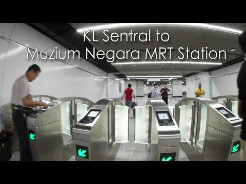 KL Sentral To Muzium Negara MRT Station Walkway
