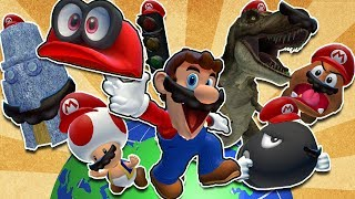 Mario travels around the globe with Cappy, capturing all sorts of d...