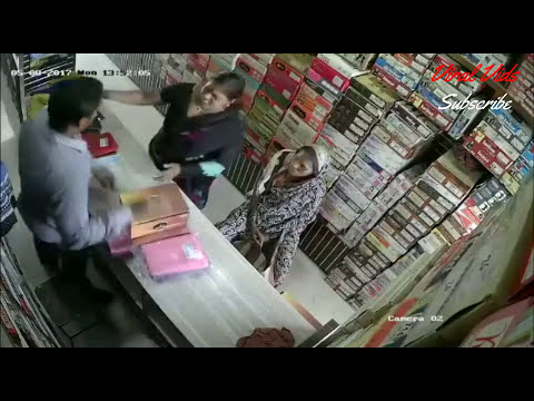 lady thief Caught on Camera in India