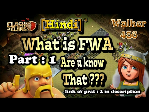 coc | What is FWA clans & How to match a war with them | in Hindi | Walker 456 | clash of clans