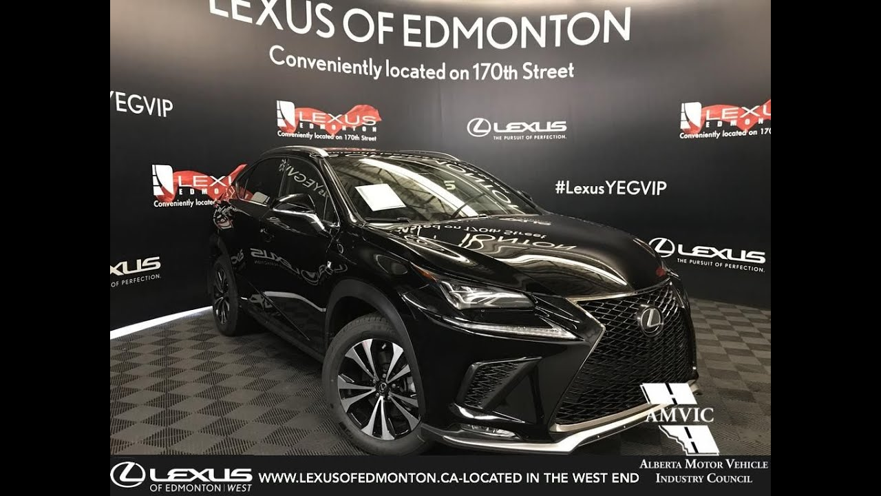 black 2019 lexus nx 300 f sport series 1 review west edmonton alberta canada